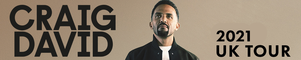Craig David - 'Hold That Thought' Tour 2021