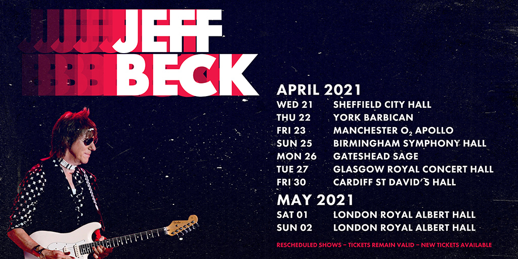 Jeff Beck reschedule twitter
